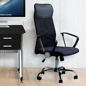 Office Chair Mesh High Back Ergonomic Design With Arms Pu Headrest Height
