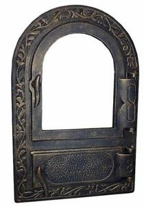 Cast Iron Fire Door Clay Bread Oven Pizza Stove Fireplace Gold Py 50 X 33