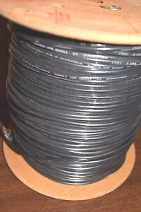 New 500 Columbia Wire 12 Awg Solid Copper 600v Thhn thwn Black Oil Resistant