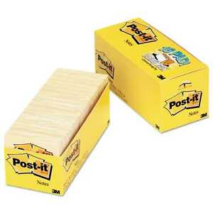 Post it Notes Original Pads In Canary Yellow Cabinet Pack 3 X 3 90 sheet 18 pack