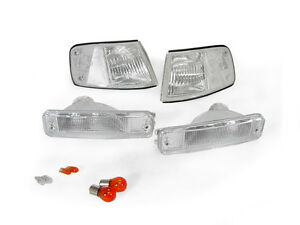 Combo Front Clear Bumper Signal Corner Lights Bulbs For 88 89 Honda Crx