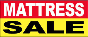 Mattress Sale Vinyl Banner Sign 3x10 Ft Ryb