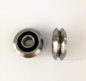 5pcs New Rm3 2rs 12 45 72 15 88mm V Groove Sealed Ball Vgroove Bearing