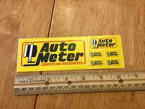 Vintage Autometer Auto Meter Sticker Decal