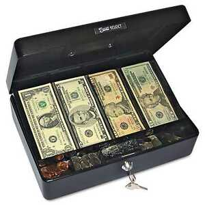 Pm Company Securit Select Spacious Size Cash Box 9 compartment Tray 2 Keys Black
