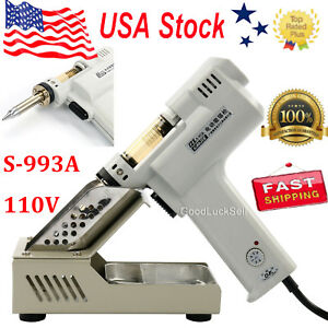 S 993a 110v 90w Electric Vacuum Desoldering Pump Solder Sucker Gun Us Fast Ship