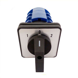 1pcs Changeover Switch 660v 125a 12 Screw Terminals 3 Positions 1 0 2 3 Phase