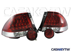 New Led Red Clear Tail Lights rear Trunk Led Lights For Lexus Is300 98 05