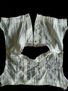 Antique Lace Edwardian Fabric Salvage Bodice Sewing French Doll Blythe