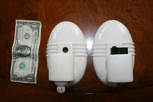 Vintage Pair Art Deco 1930s Porcelier Porcelain Wall Sconce Light Fixture