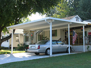 20 X 20 Wall Attached Aluminum Carport Kit 025 Patio Cover Kit