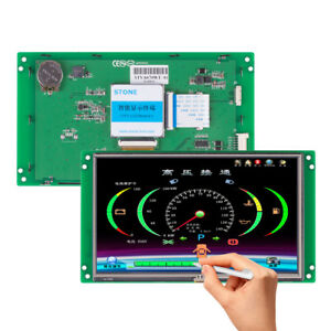 7 Intelligent Smart Serial Interface Stone Tft Lcd Controller Touch Display