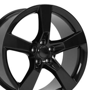 20 Rims Fit Chevy Camaro Ss Black Wheels Non Staggered
