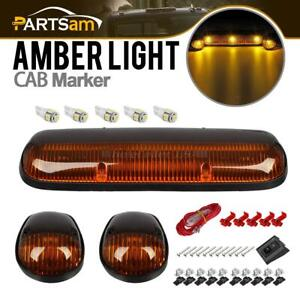 3xamber Cab Roof Running Lights 168 5050 White Led W Wire For Chevy Gmc 02 07