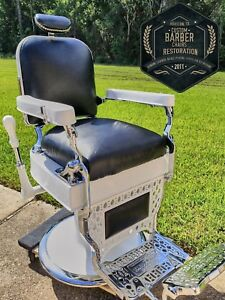 1927 Theo A Kochs Antique Barber Chair Newly Restored Fully Working