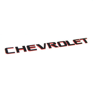 1x Oem Chevrolet Redline Emblem Badge Letter Logo For Silverado Original Red L