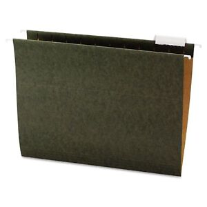 Office Impressions 1 5 Tab Hanging File Folders Standard Green Letter 25 Ct