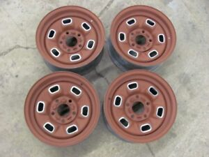 1978 78 Camaro Nova 14x6 Rally Wheels Set Of 4 Rims 3 Are Date Matched