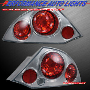 Set Of Pair Chrome Altezza Style Taillights For 2000 2005 Mitsubishi Eclipse