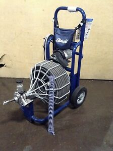 Electric Eel Rf 3 4 x100 Auto Feed Drain Sewer Cleaning Machine Plumbing Snake
