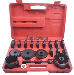 23pcs Fwd Front Wheel Drive Bearing Removal Adapter Puller Pulley Tool Kit Case
