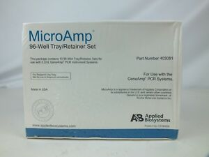 New Applied Biosystems 403081 Microamp 96 well Tray Retainer Set Geneamp Pcr