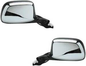 Mirrors For Ford Truck Bronco 1992 1993 1994 1995 1996 Power Pair Chrome