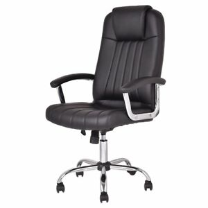 High Back Executive Office Task Chair Ergonomic Pu Leather Black