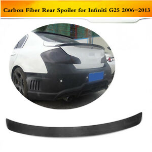 Wald Style Carbon Fiber Rear Boot Spoiler Wing Lip Fit For Infiniti G25 06 13