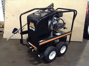 Mi t m Hsp3504 3mgh Hot Water Pressure Washer Honda Gas Power Portable Used