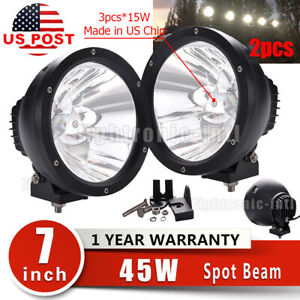 2x 7 45w Cree Led Driving Work Light Offroad 4wd Truck Spot Lamps Replace Hid