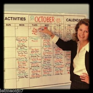 Weekly Event Planner Calendar Wall Board Dry Erase Large Jumbo Office School