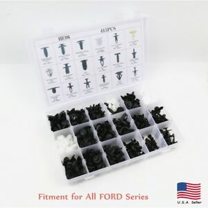 415pcs Car Automotive Push Pin Rivet Clip Panel Body Interior For Ford F150 250