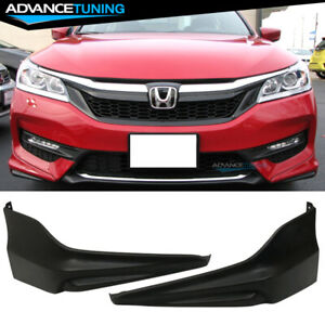 For 16 17 Honda Accord 4d Hfp Style 2pc Front Lip Underbody Spoilers Pu