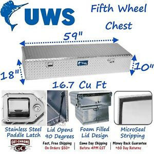 Fwb 58 Uws Aluminum Truck Toolbox 5th Wheel Chest Box
