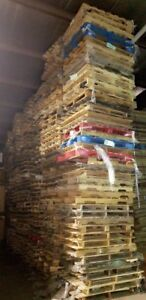 Used Wood Pallet Lot Quantity 50 150 350 All 4 way 48 x48