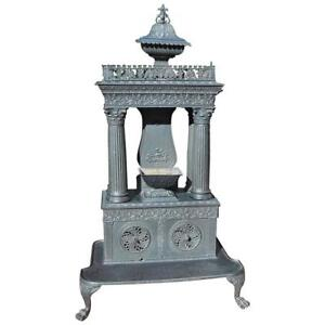 American Cast Iron Parlor Stove 19th Century