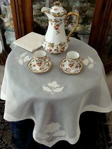 Fabulous Vtg Madeira Linen Organdy Tablecloth Set 34 Topper Bridge Gremio