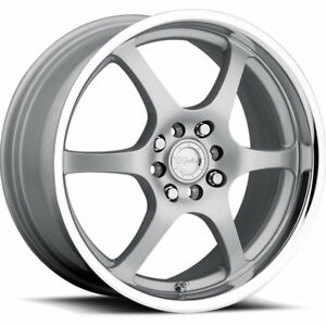 14 Inch Silver Raceline 126 Wheels Honda Accord Civic Fit Insight Prelude 4 Lug