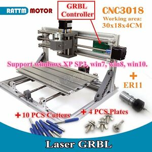 Cnc Mini 3018 Desktop Engraving Machine Diy Grbl Pcb Wood Working er11 Collect