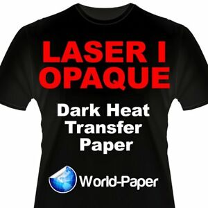 Laser 1 Opaque 1 Step darks Heat Transfer Paper For Laser Printers 8 5x11 100