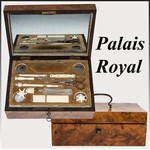Antique 1700s French Sewing Box 18k Gold Palais Royal Set Thimble Needle Case