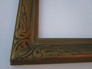 Antique Duncan Carved Frame Art Deco Era American Wood For Painting Print Photo
