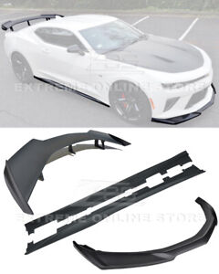 Eos Body Kit For 16 Up Camaro Ss Zl1 Style Front Lip Side Skirts Rear Spoiler