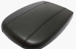 Black Center Console Lid Armrest Cover Real Leather For 98 02 Ford Expedition