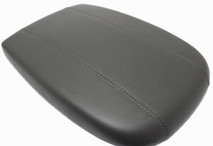 Gray Center Console Lid Armrest Cover Real Leather For 98 02 Ford Expedition
