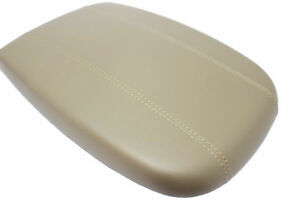 Beige Real Leather Center Console Lid Armrest Cover For 98 02 Ford Expedition