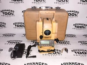 Topcon Gts 211d Total Station Transit W Case New Charger Battery