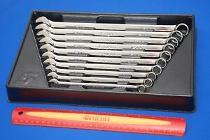 Snap on 10 Piece 12 point Metric Long Combo Wrench Set Oexlm710b New Ships Free