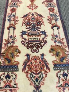 Spectacular Rare Authentic Persiann Area Rug Old 1 6 X 3 10 Vintage